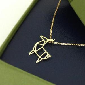 Rudolph Reindeer Necklace in gold, ..