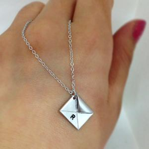 Love Letter Initial Necklace, Initi..