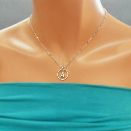 Karma Initial Necklace, Initial Rou..
