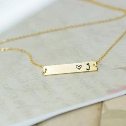 Heart And Initial Necklace, Love In..