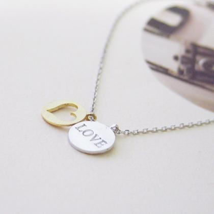 Love & Heart necklace
