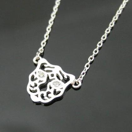 Tigris Head Necklace In Silver, Tig..