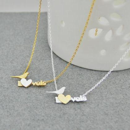 Love Bird Necklace, Heart And Love ..