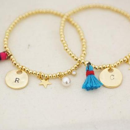 Coin and Tassel Bracelet, Personali..
