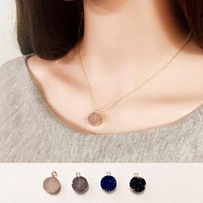 Druzy Necklace Bridesmaid Gifts Wom..