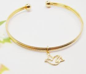 Bird Bangle, Cut Out..