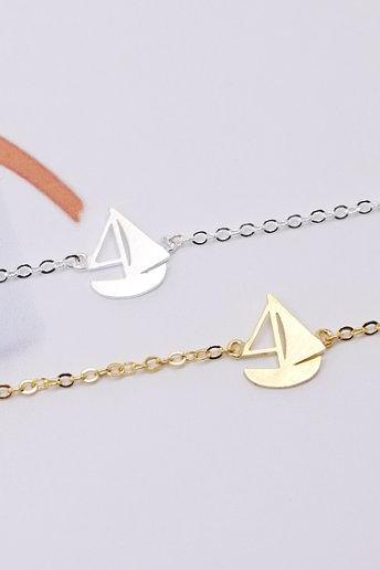 Sailing Boat Bracelet, Boat Bracelet, Jewelry of Sea