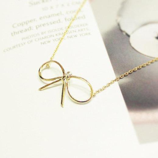 Ribbon necklace, Tying The Knot, For Best Friend Gifts