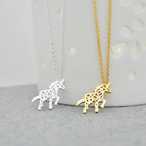 Unicorn Necklace, Animal Necklace, Mythical Jewelry